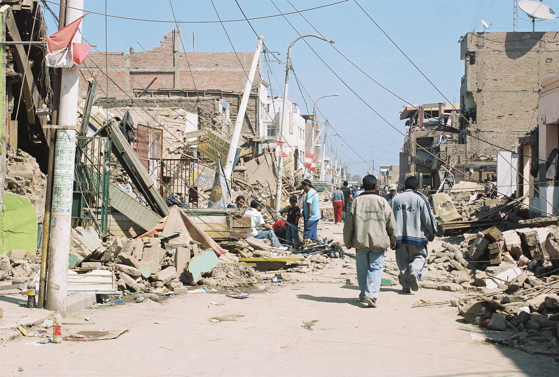 zerstörte Häuser