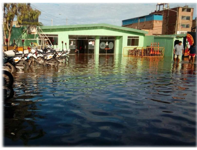 Gebäude unter Wasser